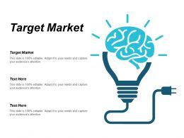 Target Market Ppt Powerpoint Presentation Icon Design Inspiration Cpb