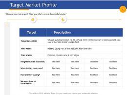Target Market Profile Buying Behavior Ppt Powerpoint Presentation Background Images