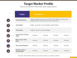 Target Market Profile Enemy Needs Ppt Powerpoint Presentation Example File