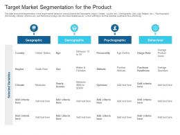 Target Market Segmentation For The Product Raise Debt Capital Commercial Finance Companies Ppt Tips