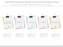 Target Market Segmentation Template Powerpoint Slide Templates Download