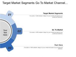 Target Market Segments Go To Market Channel Plan