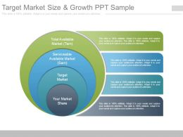 Target Market Size And Growth Ppt Sample