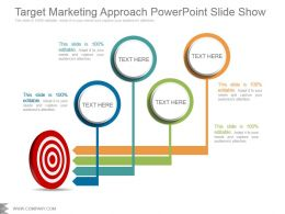 Target Marketing Approach Powerpoint Slide Show