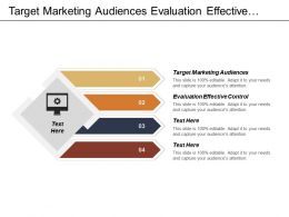Target Marketing Audiences Evaluation Effective Control Multiple Criteria