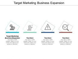 Target Marketing Business Expansion Ppt Powerpoint Presentation Styles Background Cpb