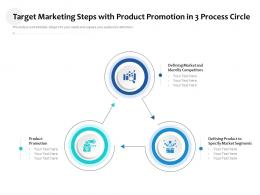 Target Marketing Steps With Product Promotion In 3 Process Circle