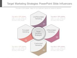 Target Marketing Strategies Powerpoint Slide Influencers