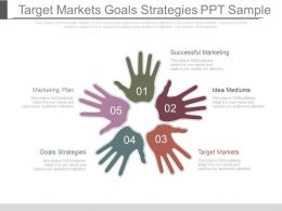 Target Markets Goals Strategies Ppt Sample
