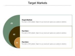 Target Markets Ppt Powerpoint Presentation Infographic Template Designs Download Cpb