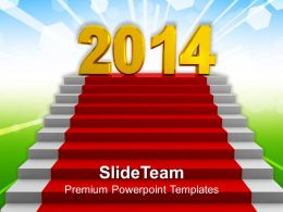 Target New Year 2014 PowerPoint Templates PPT Backgrounds For Slides 1113