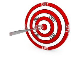 Target Of Diet Stock Photo