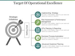 Target Of Operational Excellence Ppt Samples Download