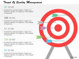 Target Of Quality Management Flat Powerpoint Design