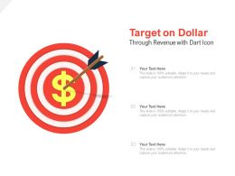 Target On Dollar Revenue With Dart Icon