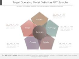 Target Operating Model Definition Ppt Samples