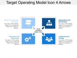Target Operating Model Icon 4 Arrows