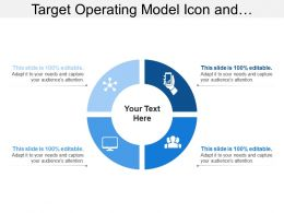 Target Operating Model Icon And Quadrants