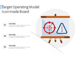 Target Operating Model Icon Inside Board