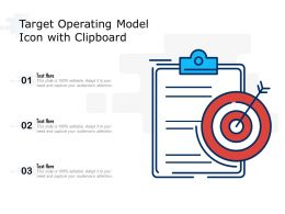 Target Operating Model Icon With Clipboard