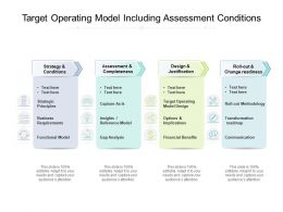 Target Operating Model Including Assessment Conditions