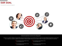 Target Our Goal And Social Networking Powerpoint Slides