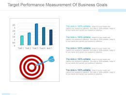 Target Performance Measurement Of Business Goals Ppt Images