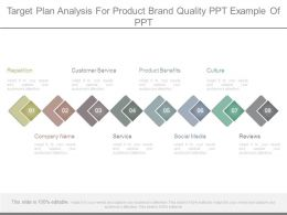 Target Plan Analysis For Product Brand Quality Ppt Example Of Ppt