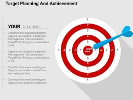 Target Planning And Achievement Flat Powerpoint Design
