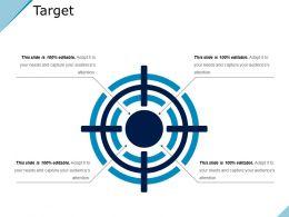 Target Powerpoint Slide Information