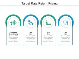 Target Rate Return Pricing Ppt Powerpoint Presentation Outline Show Cpb