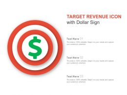 Target Revenue Icon With Dollar Sign