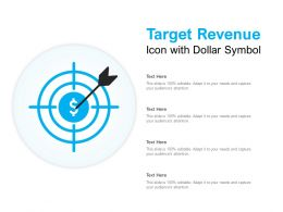 Target Revenue Icon With Dollar Symbol
