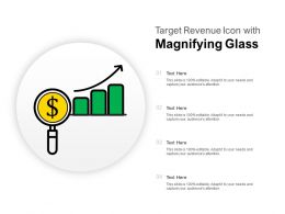 Target Revenue Icon With Magnifying Glass
