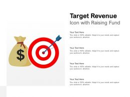 Target Revenue Icon With Raising Fund
