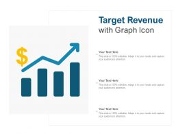 Target Revenue With Graph Icon