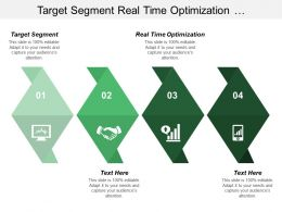 Target Segment Real Time Optimization Using Presenting Information