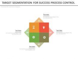 Target Segmentation For Success Process Control Flat Powerpoint Design
