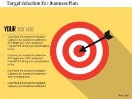 Target Selection For Business Plan Flat Powerpoint Design