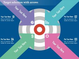 Target Selection With Arrows Flat Powerpoint Design