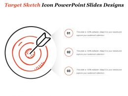 Target Sketch Icon Powerpoint Slides Designs