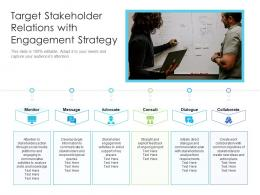 Target Stakeholder Relations With Engagement Strategy