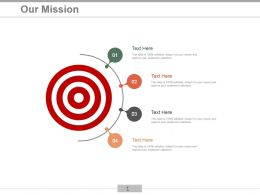 Target Surrounded By 4 Points Showing Our Mission Ppt Slides