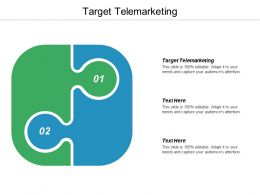 Target Telemarketing Ppt Powerpoint Presentation Icon Template Cpb