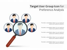 Target User Group Icon For Preference Analysis