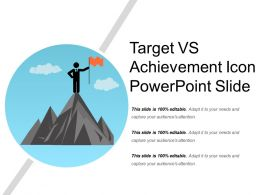 Target Vs Achievement Icon Powerpoint Slide
