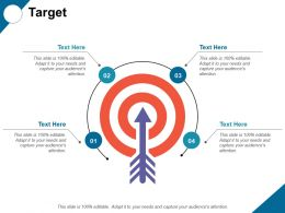 Target With Arrow Process Ppt Professional Graphics Template