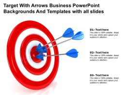 Target With Arrows Business Backgrounds Templates With All Slides Powerpoint Ppt