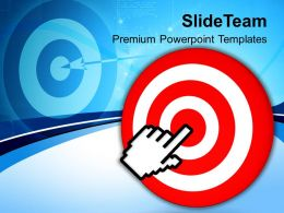 Target With Computer Cursor Technology Powerpoint Templates Ppt Themes And Graphics