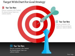Target With Dart For Goal Strategy Flat Powerpoint Design